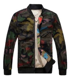 Camo Slim-fit Baseballl Jacket