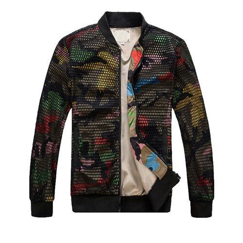 Camo Slim-fit Baseballl Jacket