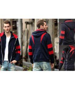 Double Zipper X Hoodie Jacket