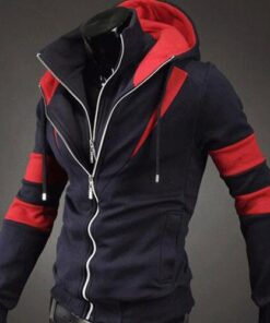 Double Zipper X Hoodie Jacket