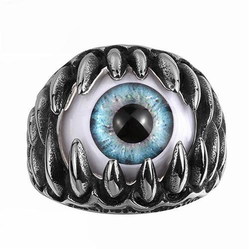 Dragon Claws Blue Evil Eyes Ring