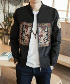 Dragon Design Pattern Bomber Jacket