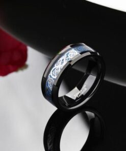 Celtic Dragon Tungsten Tungsten Carbide Ring