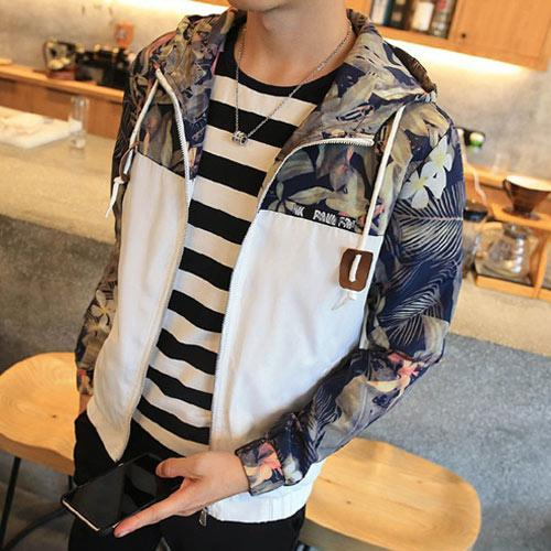 Floral Bomber Hip Hop Slim Fit Jacket