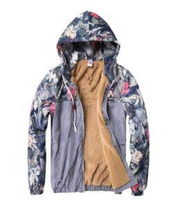 Floral Bomber Hip Hop Slim Fit Jacket