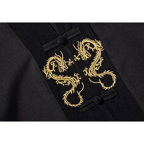 Golden Dragon Embroidery Loose Shirt