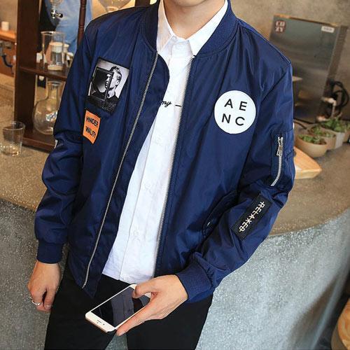 Hip Hop Patch Slim Fit Jacket
