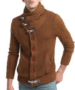 Men Thick Viking Knitted Cardigan