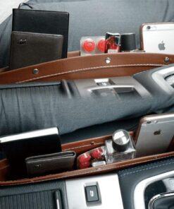 PU Leather Seat Side Phone Car Pocket