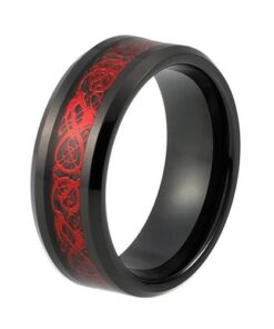 Red Celtic Dragon Ring