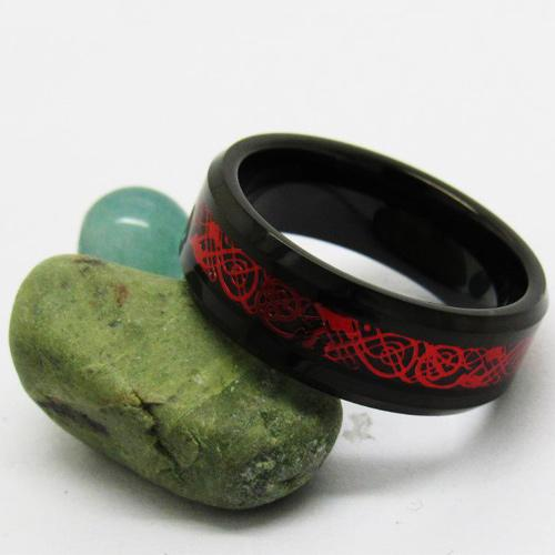 Red Celtic Dragon Ring