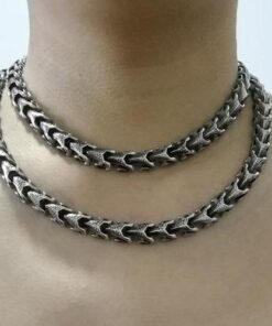 Stainless Steel Dragon Link Chain Necklace