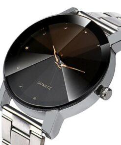 VS Gear Fashionable Men Crystal Quartz Wrist Watch