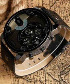 VS Gear Military Luxury Leather Strap Wristwatch