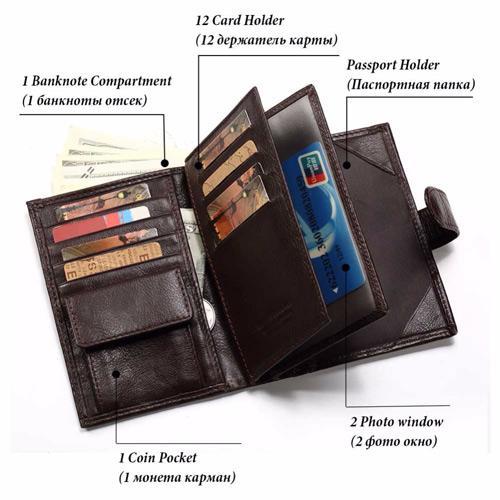 VS Gear RFID Passport Wallet