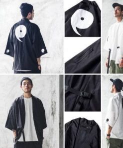 ninja pattern kimono